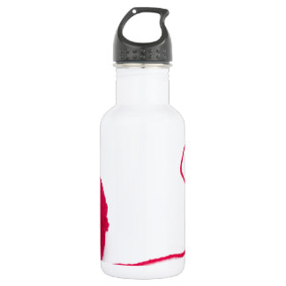 Pink ball of love stainless steel water bottle