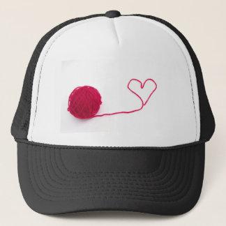 Pink ball of love trucker hat