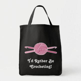 Pink Ball of Yarn & Crochet Hooks Bag