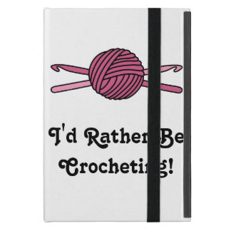 Pink Ball of Yarn & Crochet Hooks iPad Mini Covers