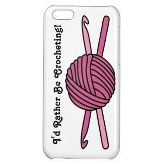 Pink Ball of Yarn & Crochet Hooks iPhone 5C Cases