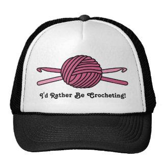 Pink Ball of Yarn & Crochet Hooks Trucker Hat