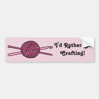 Pink Ball of Yarn (Knit & Crochet) Bumper Sticker