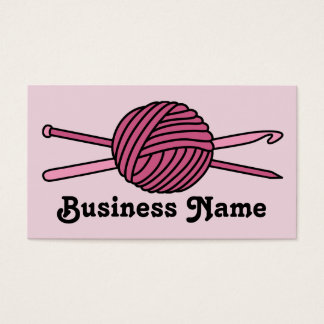 Pink Ball of Yarn (Knit & Crochet) Business Card