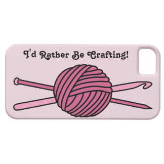 Pink Ball of Yarn (Knit & Crochet) iPhone 5 Cases