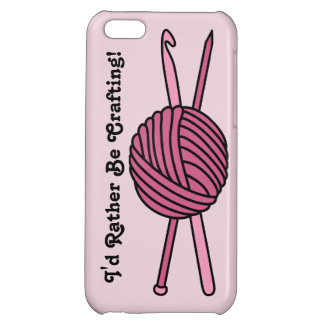 Pink Ball of Yarn (Knit & Crochet) Case For iPhone 5C