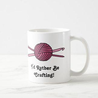 Pink Ball of Yarn (Knit & Crochet) Mug