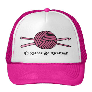 Pink Ball of Yarn (Knit & Crochet) Trucker Hat