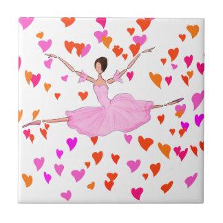 PINK BALLERINA DANCING AND JUMPING TILE