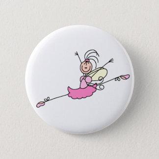 Pink Ballerina Dancing Button