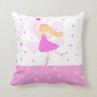 Pink Ballerina Fairy Pillow