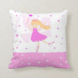 Pink Ballerina Fairy Pillow