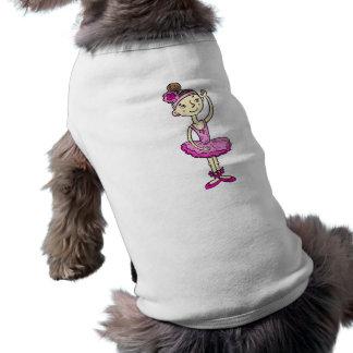Pink Ballerina Girl Dog Tee