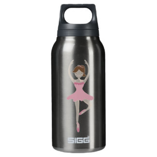 Pink Ballerina Girl Insulated Water Bottle