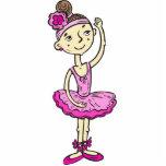 Pink Ballerina Girl Photo Cutout