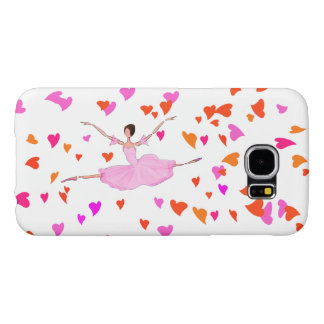PINK BALLERINA HAPPILLY JUMPING BALLET PHONE COVER
