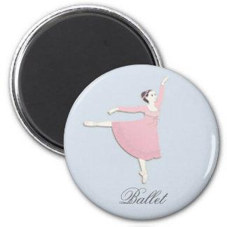 Pink Ballerina Magnet