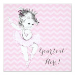 Pink Ballerina Princess Baby Shower Personalized Invitations