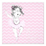 Pink Ballerina Princess Baby Shower Custom Announcements