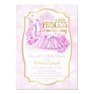 Pink Ballerina Princess Baby Shower Invitation