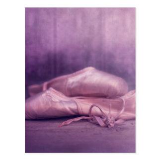 pink ballerina shoes for girls postcard