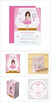 Pink Ballerina theme Birthday Party Suite