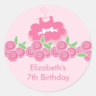 Pink Ballerina Tutu Dance Birthday Party Sticker
