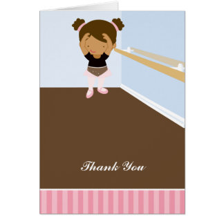 Pink Ballerinas Thank You Notes Greeting Card