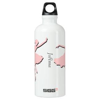 Pink Ballet Dancing Custom Water Bottle