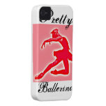 Pink Ballet 'Pretty ballerina' iPhone Case iPhone 4 Cover