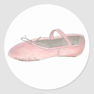 Pink Ballet Shoe Slipper Ballerina Dance Stickers