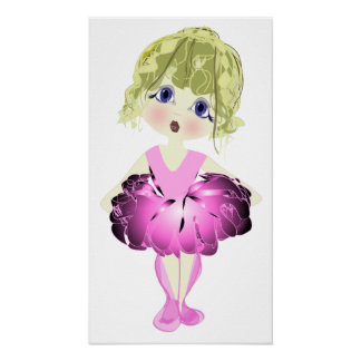 Pink Ballet Shoes Art Poster