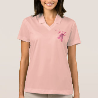 Pink Ballet shoes Polo Shirt