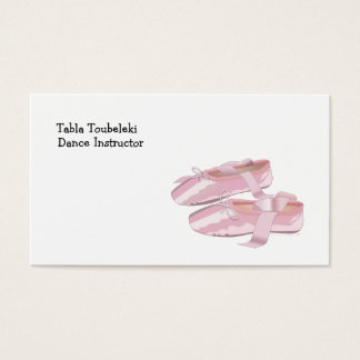 Pink Ballet Shoes Slippers Business Card