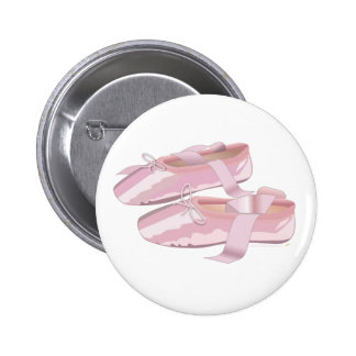 Pink Ballet Shoes Slippers Button