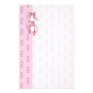 Pink Ballet Shoes Stationery Paper