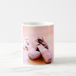 Pink Ballet Slipper Pointe Shoes Dance Template Coffee Mug