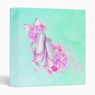 Pink Ballet Slipper with Peonies and a Bow Binder