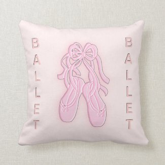 Pink Ballet Slippers American Mojo Pillow