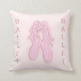 Pink Ballet Slippers American Mojo Throw Pillow