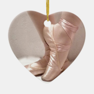 Pink Ballet Slippers Ceramic Ornament