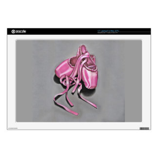 """Pink Ballet Slippers Decals For 17"""" Laptops"""
