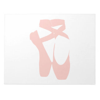 Pink Ballet Slippers Notepad