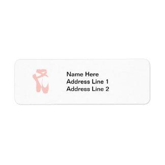Pink Ballet Slippers Return Address Label