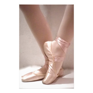 Pink Ballet Slippers Stationery