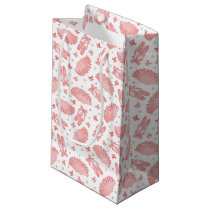 Pink Ballet Star Pattern Small Gift Bag