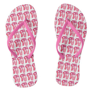 Pink Ballet Toe Shoes Ballerina Dance Flip Flops