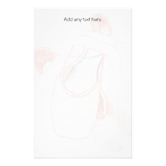 Pink Ballet Toe Shoes Stationery