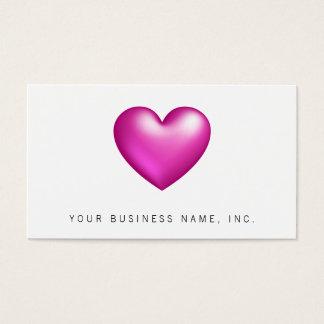 Pink Balloon Heart Business Card