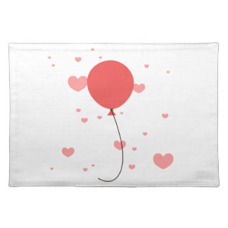 Pink Balloon & Hearts Placemats